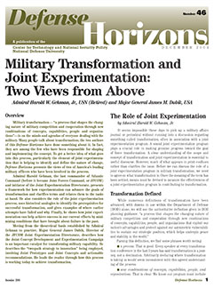 Military Transformation and Joint Experimentation