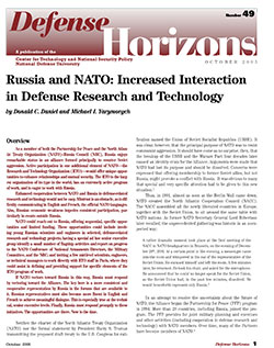 Russia and NATO: Increased Interaction in Defense Research and Technology