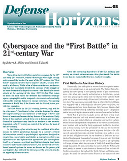 Cyberspace and the First Battle in 21st-century War
