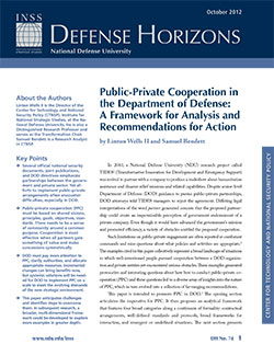 Public-Private Cooperation in the Department of Defense: A Framework for Analysis and Recommendations for Action