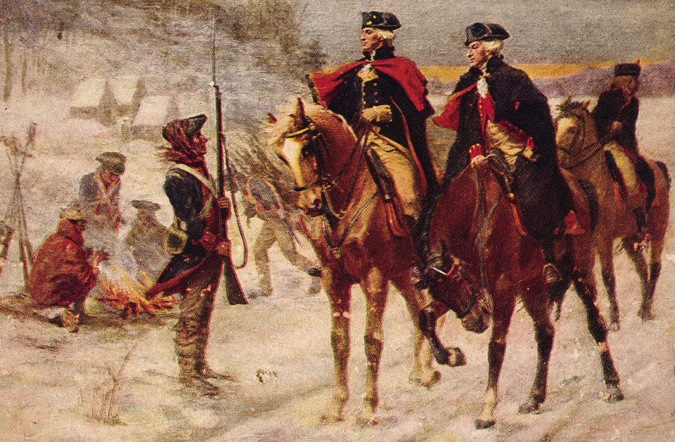 Washington and Lafayette at Valley Forge</span> (John Ward Dunsmore/Library of Congress)