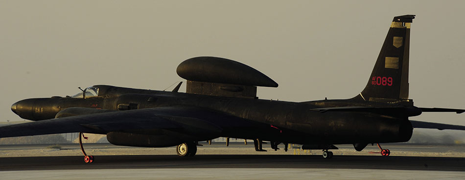 U-2 Dragon Lady taxis for takeoff in Southwest Asia (U.S. Air Force/Eric Harris)