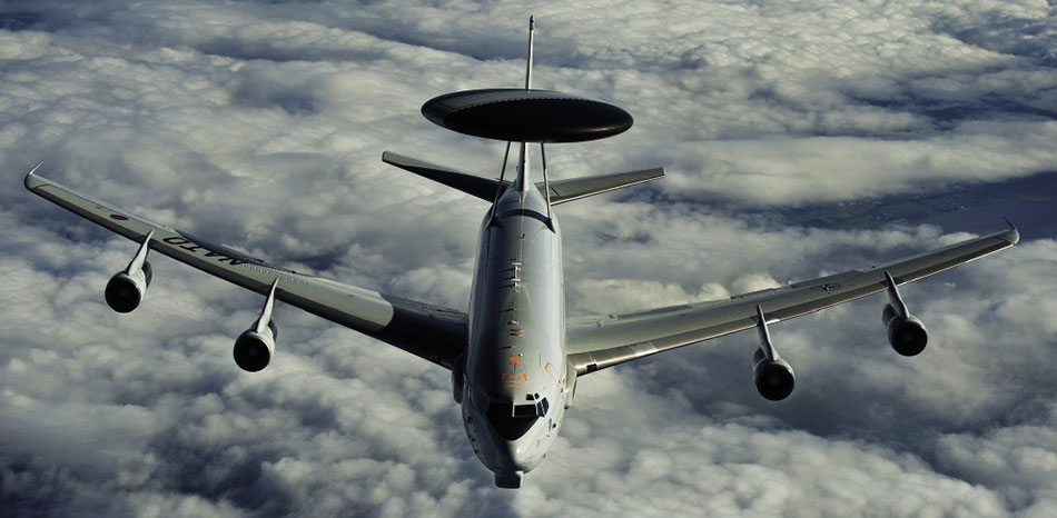 NATO E-3A Sentry AWACS patrols over Germany (U.S. Marine Corps/Colby Brown)
