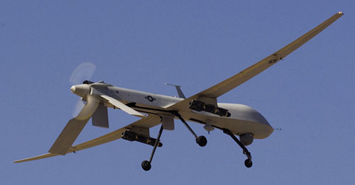 MQ-1 Predator prepares to land (U.S. Army/Thomas Duval)