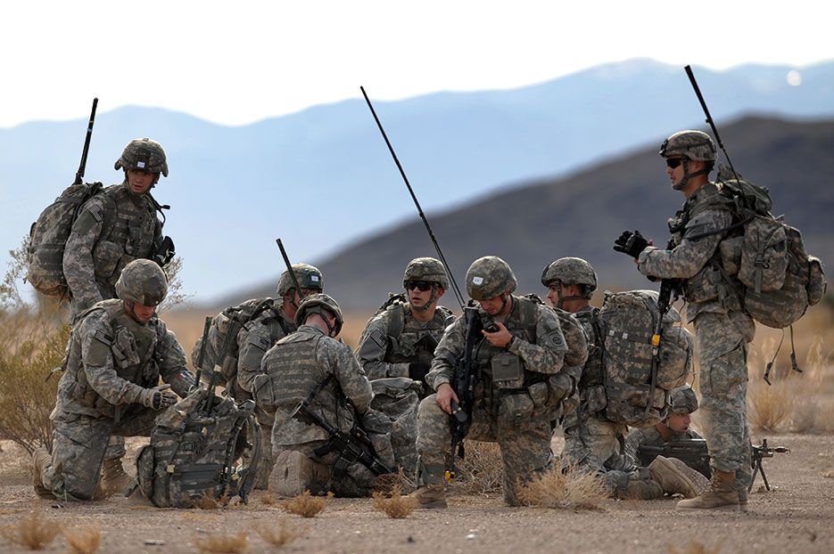 Soldiers rally in urban operations complex at Nevada Test and Training Range (U.S. Air Force/ Michael R. Holzworth)