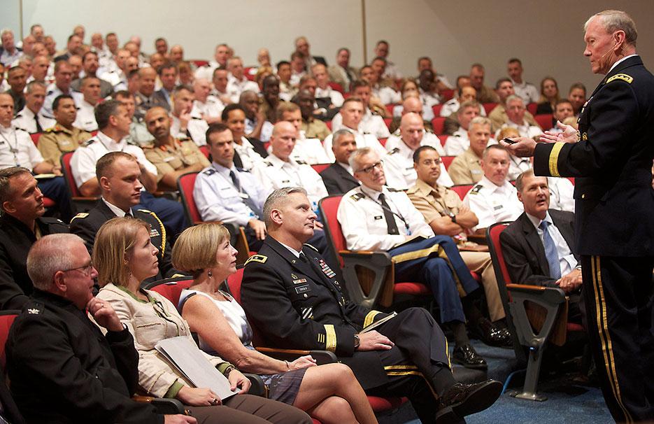 General Dempsey speaks at U.S. Army War College (DOD/Chuck Marsh)