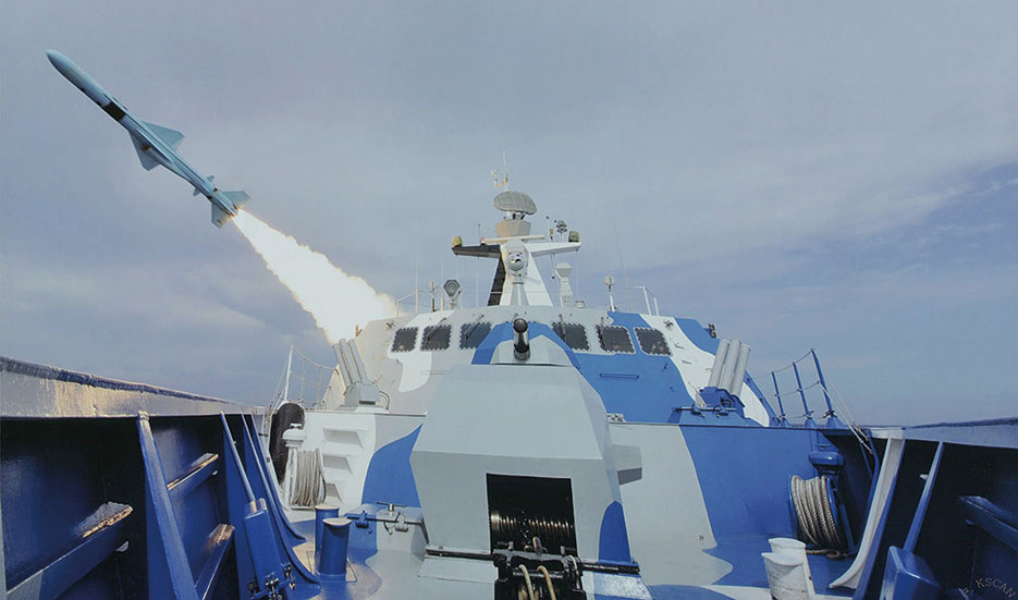 Houbei-class 002 Fast Attack Missile Craft test fires C-803 antiship missile (Global Military Review)