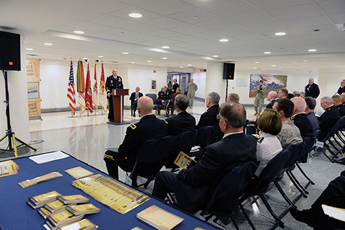 Chief of Staff of the Army General Raymond T. Odierno speaks during Service's official recognition of Sexual Assault Awareness Month at Pentagon, March 2014 (U.S. Army/Alfredo Barraza)