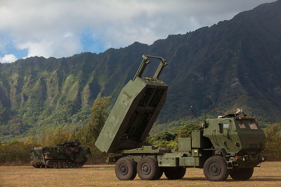 Marine Corps High Mobility Artillery Rocket System conducts dry-fire exercise during exercise Rim of the Pacific 2014 (U.S. Marine Corps/Aaron S. Patterson)