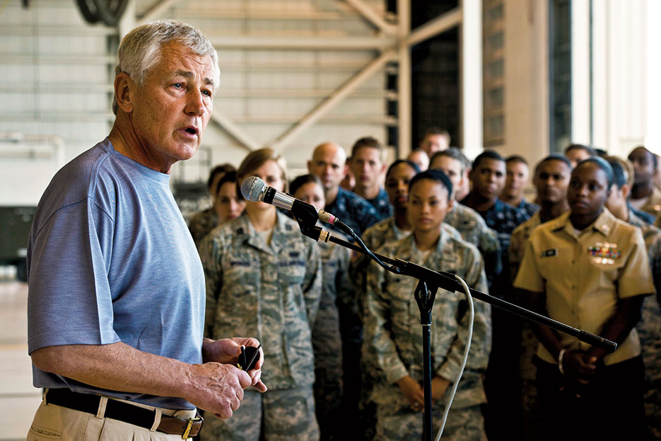 Secretary Hagel tells troops cyber may be biggest threat to U.S. security (DOD/Erin A. Kirk-Cuomo)