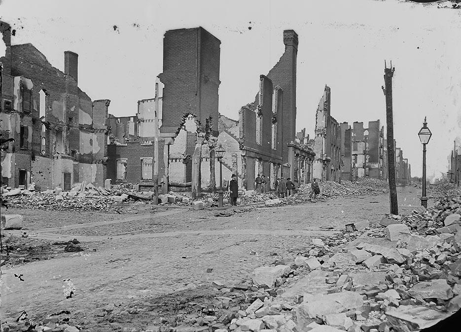 Ruins of Richmond, Virginia, 1865 (NARA/Mathew Brady)
