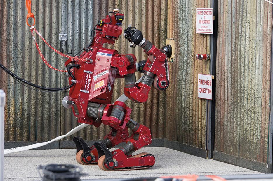 CHIMP, from Tartan Rescue Team, placed third in the DARPA Robotics Challenge Trials 2013 (DARPA)