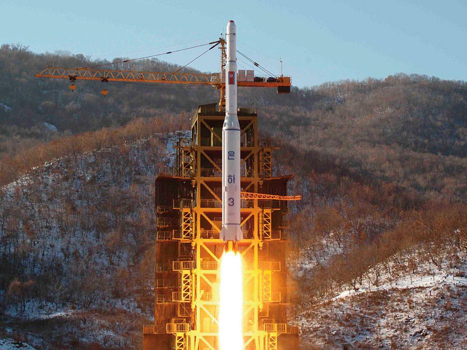 Launch of North Korea's Unha-3 rocket in December 2013 (Korean Central News Agency)