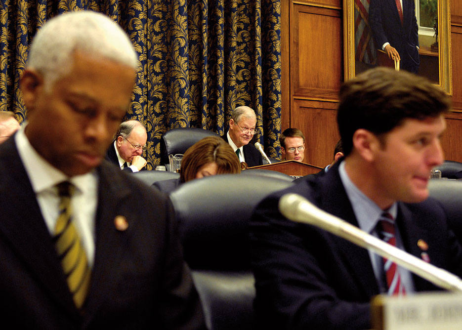 Representative Ike Skelton, then Chairman of the House Armed Services Committee, begins hearing on Iraq, January 2007 (U.S. Air Force/D. Myles Cullen)