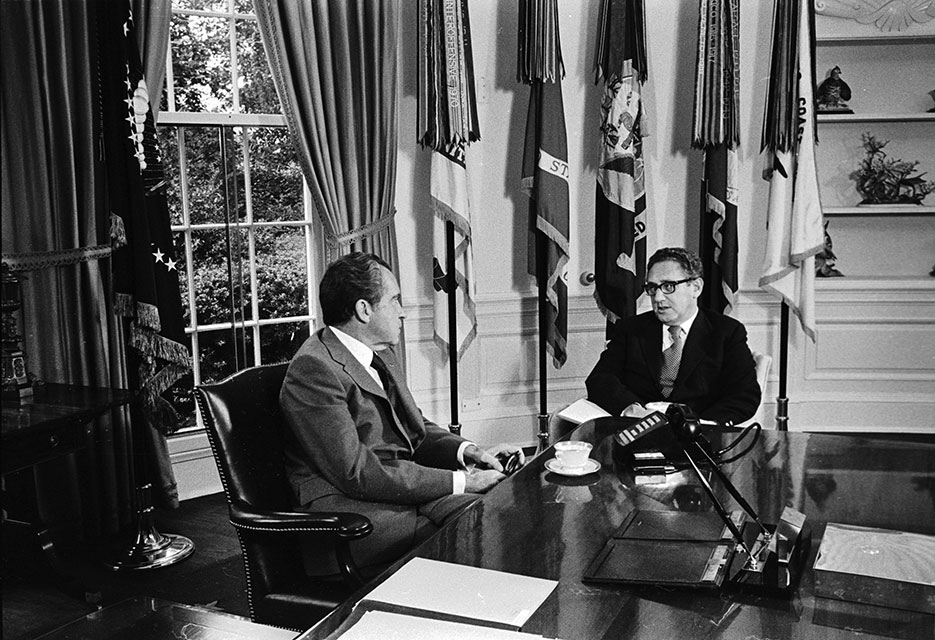 President Nixon meeting with Henry Kissinger in the Oval Office, October 8, 1973 (CIA/Oliver Atkins)