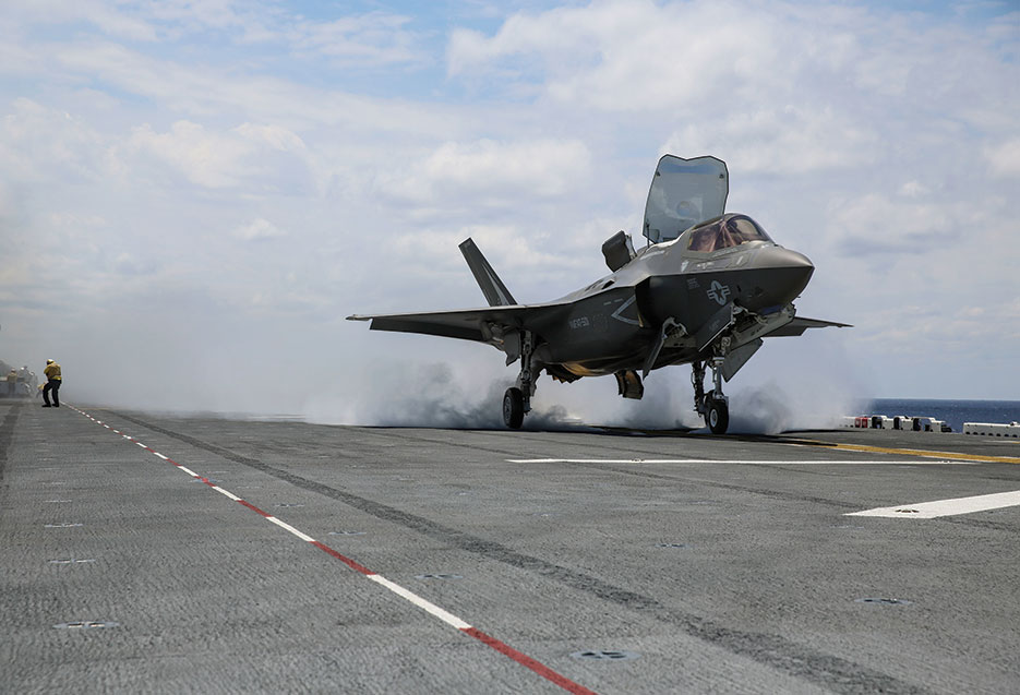 F-35B Lightning II takes off from USS Wasp during routine daylight operations (U.S. Marine Corps/Anne K. Henry)