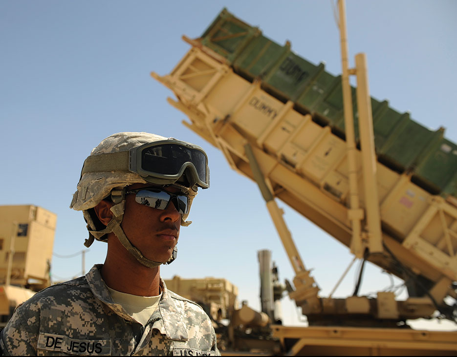 Patriot Advanced Capability–2 missile launcher during crew drill (U.S. Air Force/Nathanael Callon)