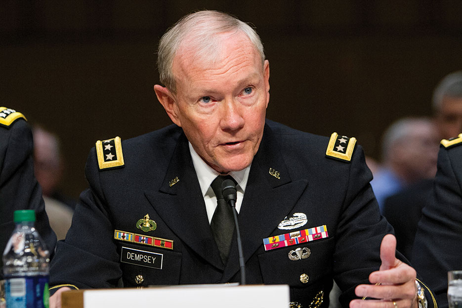 General Dempsey testifies on sexual assault in military before U.S. Senate Arms Services Committee, June 2013 (DOD/Sean K. Harp)