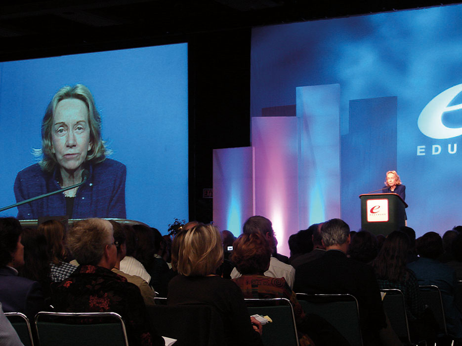 Historian and author Doris Kearns Goodwin speaks at a conference in Seattle, Washington, October 2006 (Quinn Dombrowski/Flickr)