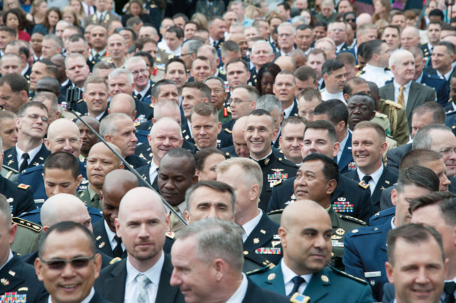U.S. Army War College graduating class of 2015 represented 387 men and women of the joint force, drawing from all branches of military, Federal agencies, and multinational environments (U.S. Army War College)