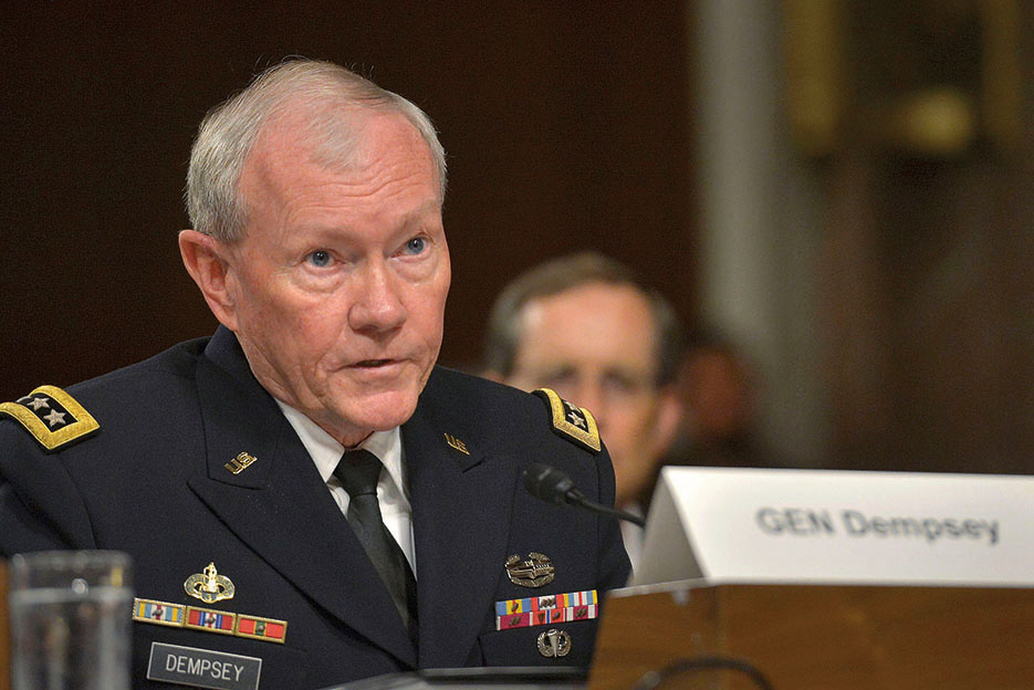 General Dempsey testifies on Iran nuclear deal before Senate Armed Services Committee, July 29, 2015 (DOD/Glenn Fawcett)