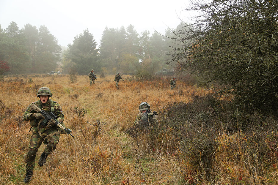 Dutch soldiers take part in Combined Resolve, which trains participants in joint, multinational, and integrated environments alongside U.S. and NATO allies (U.S. Army/John Cress, Jr.)