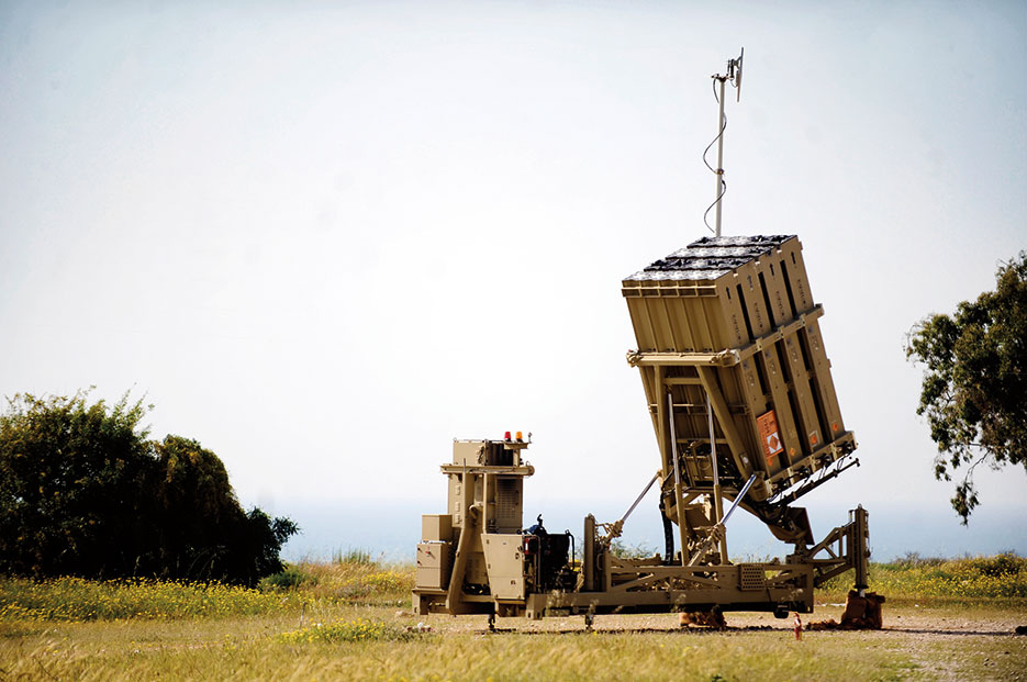 "Iron Dome battery in Ashkelon, Israel, intercepted approximately 8 rockets and BM-21 ""Grad"" rockets launched from Gaza, April 10, 2011 (Courtesy Israel Defense Forces)"