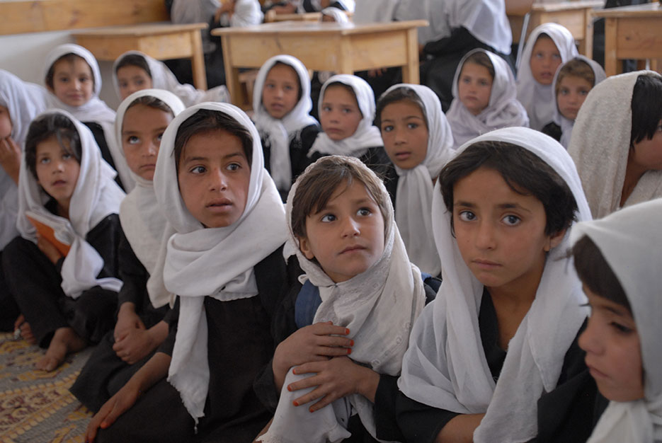 Children in boys and girls school in Kabul (U.S. Air Force/Stacey Haga)