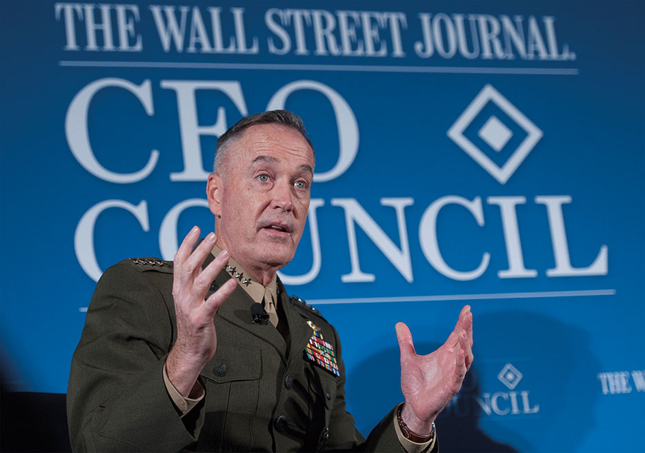 General Dunford gives remarks on leadership at <i>Wall Street Journal</i> Chief Executive Officer Council annual meeting, November 2015 (DOD/Dominique A. Pineiro)