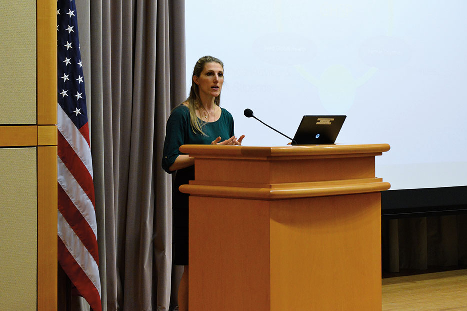 "Co-founder and CEO of Seed Global Health speaks on ""Improving Developing Country Health Systems Through the Spirit of Volunteerism,"" part of Secretary's Office of Global Health Diplomacy Speaker Series, at State Department, April 22, 2014 (State Department)"