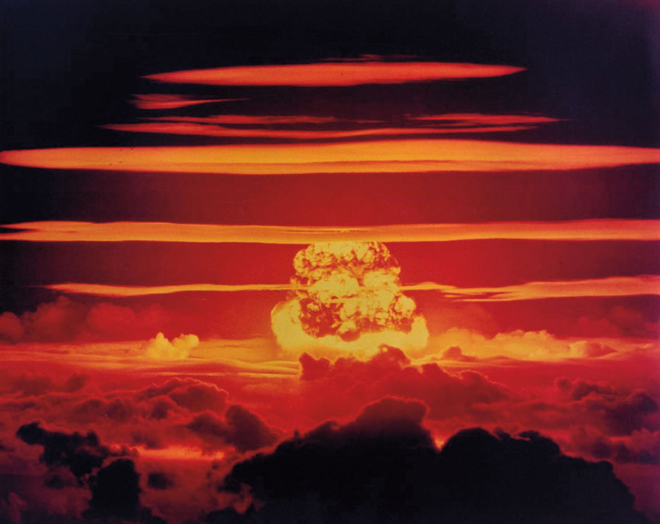 Nuclear weapon test Dakota on Enewetak Atoll, 1956 (National Nuclear Security Administration)