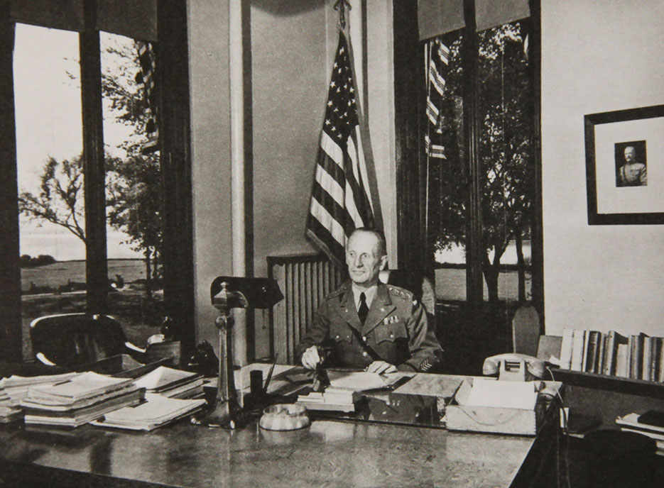 Lesley J. McNair in his office at the Army War College (NDU Special Collections)