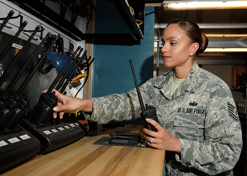 One of 12 Outstanding Airmen of 2015, Sharry Barnshaw, 436th Communications Squadron client systems section chief, focuses on personal improvement to become a better leader, supervisor, mentor, peer, and follower, ultimately shaping herself into a better person (U.S. Air Force)