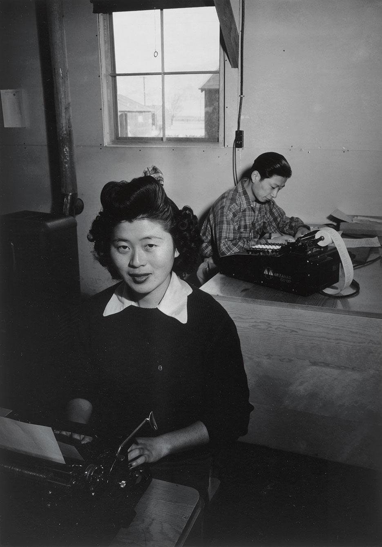 Rose Fukuda and Roy Takeda, Manzanar Relocation Center, 1943 (Library of Congress/Ansel Adams)