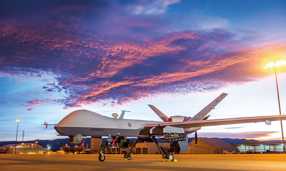 MQ-9 Reaper remotely piloted aircraft at Holloman Air Force Base, New Mexico, December 16, 2016 (U.S. Air Force/J.M. Eddins, Jr.)