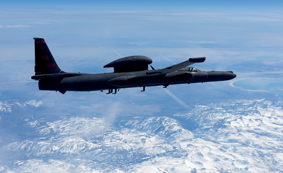 U-2 Dragon Lady delivers critical imagery and signals intelligence to decisionmakers during all phases of conflict, Sierra Nevada Mountain Range, California, March 23, 2016 (U.S. Air Force/Robert M. Trujillo)