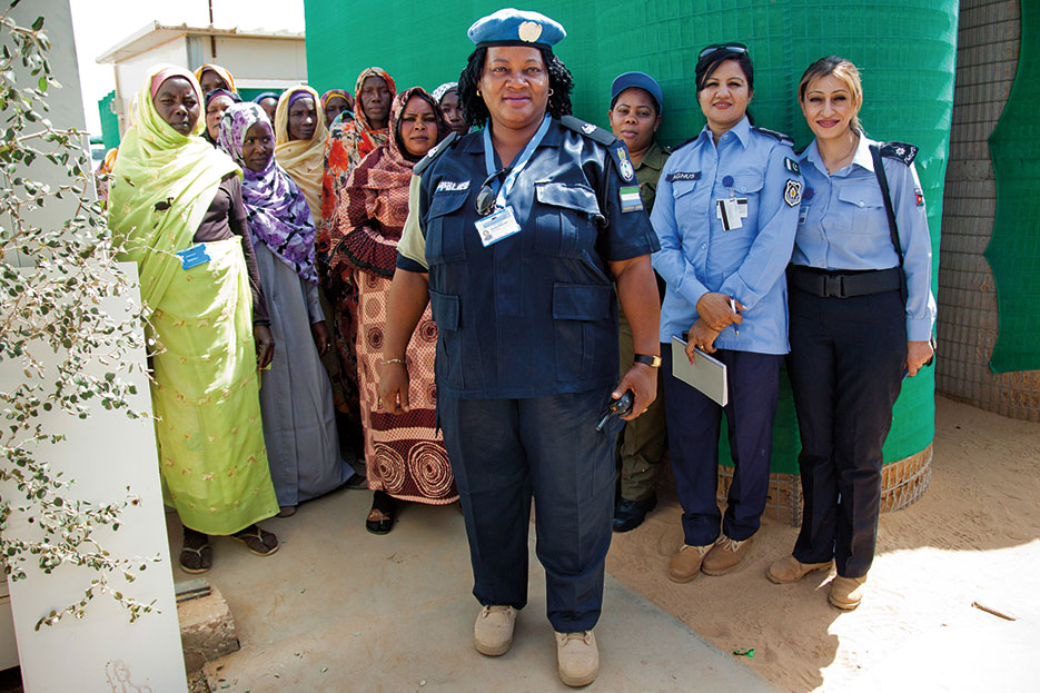 "Madam Fenella Khellah is a police adviser from Sierra Leone and officer in charge of the family and child protection unit ""Sector North,"" North Darfur (UNAMID/Sojoud Elgarrai)"